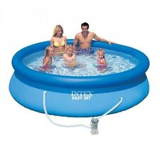 Intex 8ft 10ft 12ft 15ft Easy Set Round Swimming Pool with Pump Filter