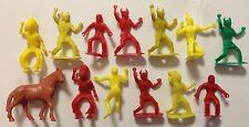 Vintage 1950-60s MPC Multiple Western Fort Play Set 60mm Ring Hand INDIANS