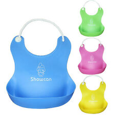 Cute Baby Bibs Waterproof Silicone Toddler Infants Kids Lunch Bibs Нагрудники
