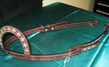 One ear headstall with Stainless silver Diamonds horse trail