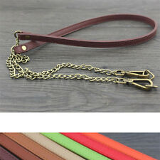 Metal 45in Genuine Leather purse shoulder Strap Replacement Multi-colored sD40