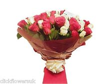 Fresh Real Flowers Delivered Premium Mixed Real Rose Selection Bouquet