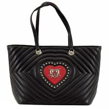 Love Moschino Women's Studded Heart Leather Tote Handbag