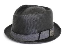 Vans Off The Wall Prohibition Fedora Hat Mens Black Straw Bottle Opener New NWT