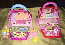 Lot of 2 carry along Sanrio Hello Kitty Doll House & Candy Store Sweet Shop