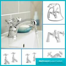 Traditional Classic Chrome Bathroom Taps Basin Mixer Bath Filler Shower Taps