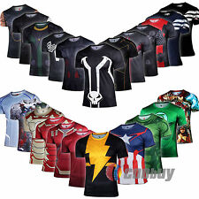 2015 TOP MENS MARVEL Thor SUPERHERO T-SHIRT CASUAL SPORTS SHIRT JERSEY CYCLING