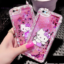 Bling Crystal Hello Kitty Quicksand Liquid Cover Case for iPhone Samsung Note4