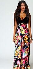 New Women Floral Long Maxi Evening Party Cocktail Sexy Casual V Neck Dress C015