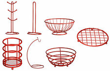 Red Powder Coated Metal Helix Kitchen Utility Accessories For Kitchen Living Use