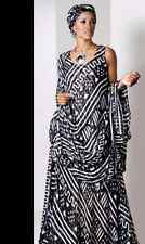 Mudcloth Print Dress Formal Dinner Cruise African Ethnic Wear Ashro Red Black