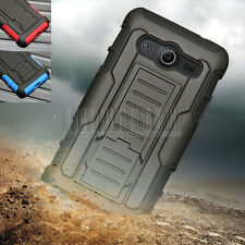 Hybrid Armor Rugged Hard Holster Case Cover For Samsung Galaxy Core 2 G355+Film