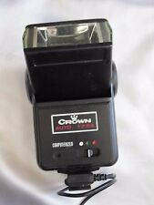 Vintage Crown 175A Computerized 35mm Auto Flash Shoe Mount, Angle Adjustable