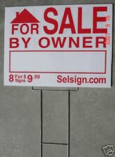10 Yard Sign & Stakes FSBO For Sale By Owner Road Sign