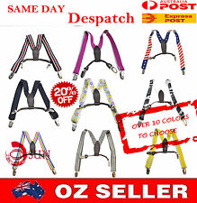 Kids Boys Girls  FASHION STYLES Adjustable Elastic Suspenders Braces  1to8 year