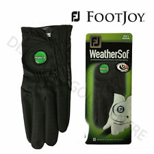 Footjoy Men's Weathersof Q-Mark Golf Glove Black Left Hand BALL MARKER