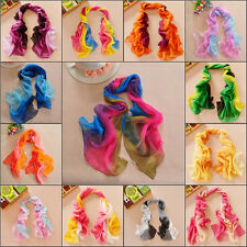 2015 New Multicolor Girls Women Lady Shawl Silk Long Soft Wrap Chiffon Scarf