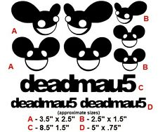 (10) Deadmau5 inspired VINYL STICKER CAR DECALS poster skrillex dubstep fan made