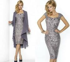 New Short Lace Mother of the Bride dress Evening Prom Formal Dress free Jacket