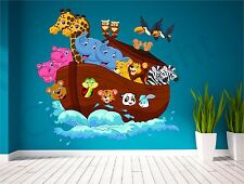 Noahs Ark Animals Kids Wall Art Sticker Decal Transfer Bedroom Playroom Nursery