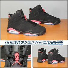Nike Air Jordan 6 VI Retro GS Black Infrared 384665-023 Grade School 3.5 - 7