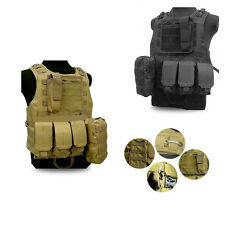 Airsoft Molle Combat Tactical Vest Military SWAT Police  Assault Plate Carrier