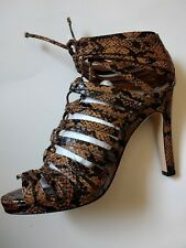 KAREN MILLEN BLACK BROWN SNAKE EFFECT GLADIATOR SHOES 3,5,6,7 RRP £165 FJ108
