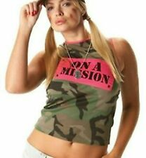 Army Camouflage Vest - Here Comes The Girls Ladies fancy dress costume Rubies