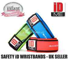 Child Kid Safe WristBand ID Holiday band back to school safety emergency info