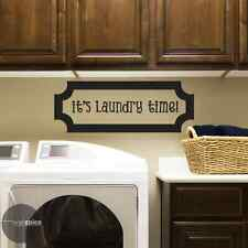 It's Laundry Time Vinyl Wall Decal Sticker Home Decor Mud Room