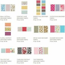 Stampin Up Designer Series Fabric Multiple Choice Fat Quarters per pack NEW