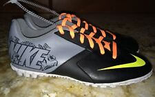 NEW Youth Sz 5 NIKE Bomba II Volt Black Turf Soccer Shoes Cleats Boys Girls Kids