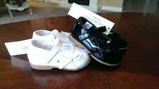 New Girls Little Wonders Black or White Dress Shoes Size 2, 4