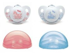 NUK Orthodontic Pacifiers Soother Silicone Size 1(0-6 Months) Rose&Blue with box