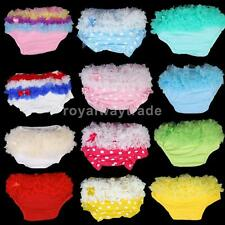 Baby Girl Ruffle Panties Bloomers Diaper Cover S New