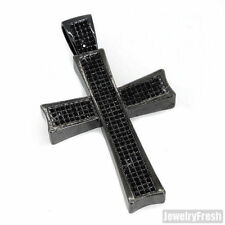 Black Hip Hop Style Crystal Iced Out Cross Pendant for Men