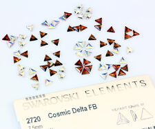 2 X Genuine SWAROVSKI 2720 Cosmic Delta Flat Back Crystals 7.5mm * All Colors