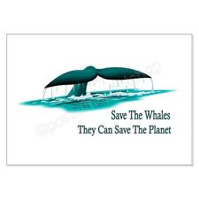 Wall Art. Save The Whales. They Can Save The Planet.  A4 print unframed