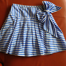REVIEW Beautiful nautical stripe SKIRT Size 12 NWOT