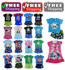 NEW Sz 1~12 KIDS BOYS PYJAMAS PJS PJ SLEEPWEAR TEE T-SHIRT OUTFITS TOP NIGHTIE