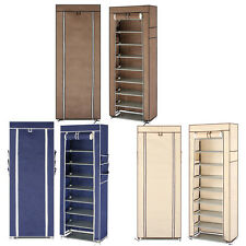 New 9 Layer Shoe Rack Shelf Storage Closet Organizer Cabinet With Cover Color US