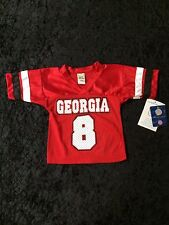 Georgia Bulldogs Little King Unisex Infant and Toddler Red #8 Football Jersey
