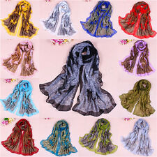 Hot Women Fashion Lady Pretty Long Soft Chiffon Scarf Wrap Shawl Stole Scarves