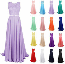 New Long Lace Prom Dresses 2016 Bridesmaid Dress Party Dresses Stock Size: 6-18