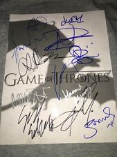 Game Of Thrones Entire cast signed autograph The Walking Dead series full