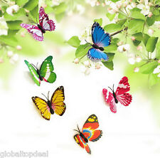 Colorful 12pcs 3D Butterfly Wall Decor Butterflies Wall Stickers Art Decals Home
