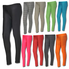 Womens Ladies Full Length Leggings Womens Stretchy Lycra Trousers All Sizes