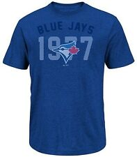 Toronto Blue Jays MLB Majestic 3 Base Hit Mens Royal Blue Shirt Big & Tall Sizes