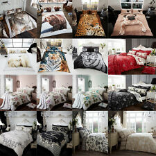 Duvet Cover Set With 2 Pillow Cases Bedding Linen Set Single Double King