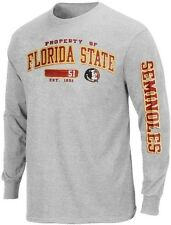 Florida State University FSU NCAA Property Of Long Sleeve Gray Shirt Adult Sizes